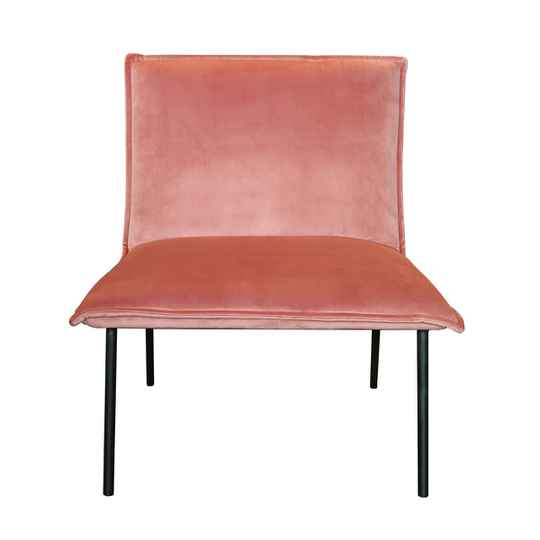 Kick Collection - Fauteuil Lola velvet roze