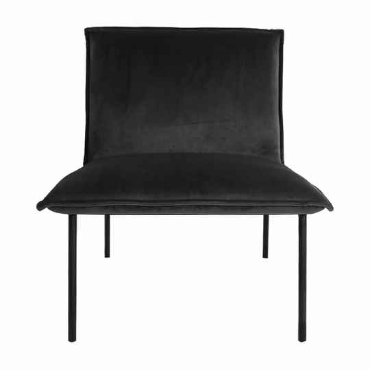 Kick Collection - Fauteuil Lola velvet antraciet