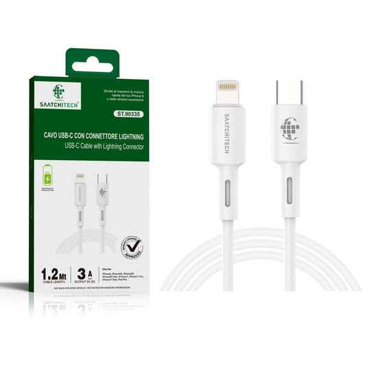 USB C kabel met lightning connector 1.2 meter