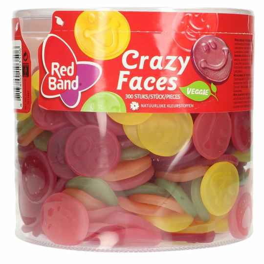 Red Band Crazy Faces winegum silo - 300x