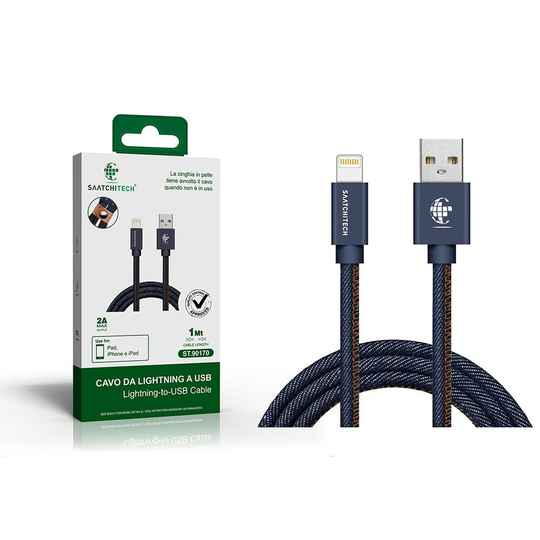 Lightning naar USB denim-kabel