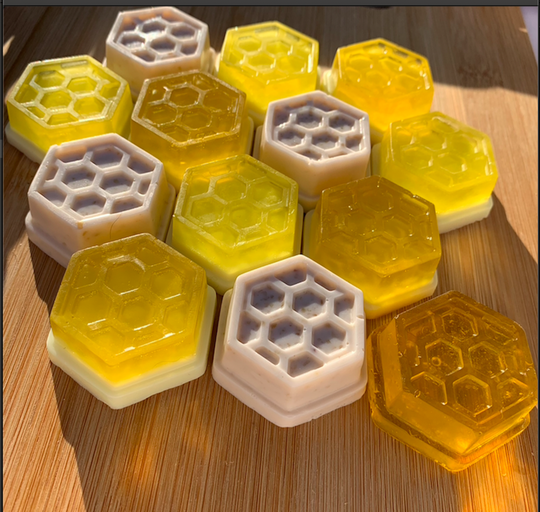 Miniature Natural Honeycomb and Goat Milk Soap (various pack sizes) - Handcrafted