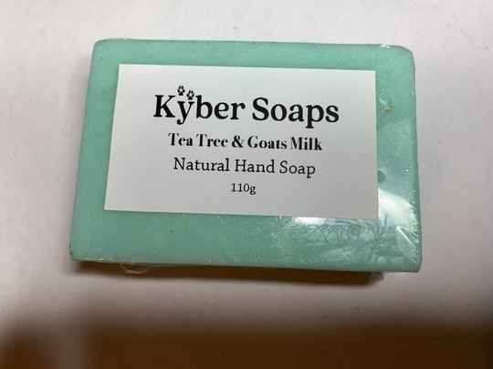 Tea Tree & Goats Milk Soap - Natural, 110g - Handcrafted
