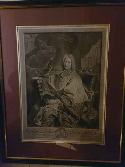 SOLD    LARGE ETCHING  ANNO 1739