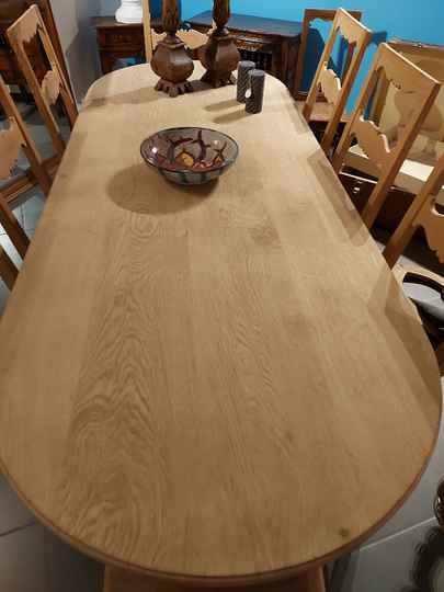 SOLD Large refectory table in oak