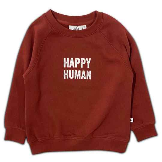 Happy human sweater brandy | Cos I Said So