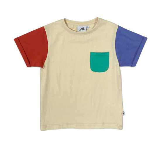 COLOR BLOCK T-SHIRT NAVAJO ° COS I SAID SO
