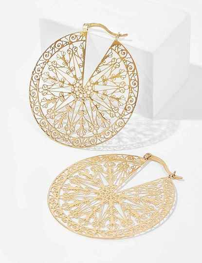 💮 Gold Hollow Hoops