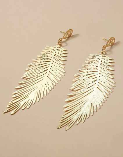 🕊Hollow Feather Drop Earring