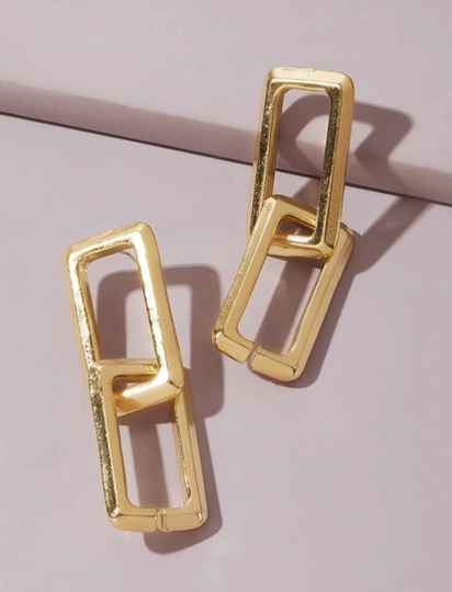 Double Square Earring