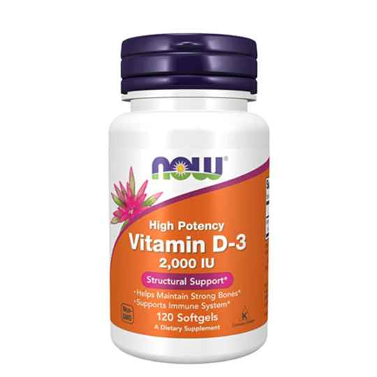 NOW FOODS Vitamines D3 2000 IU 120 softgels