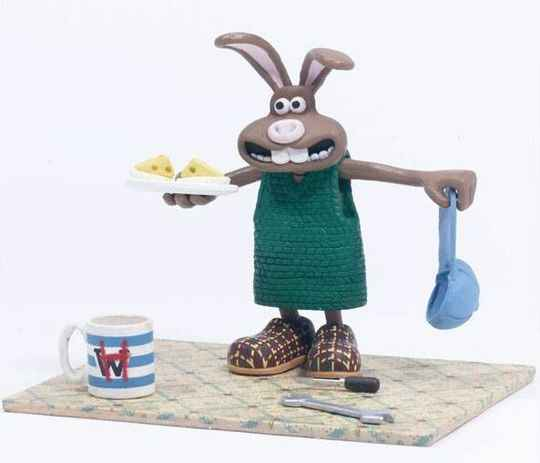 """McFarlane Wallace and Gromit """"Hutch"""" Were Rabbit Action Figure"""