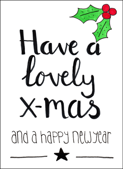 Kaart - Have a lovely x-mas and a happy new year