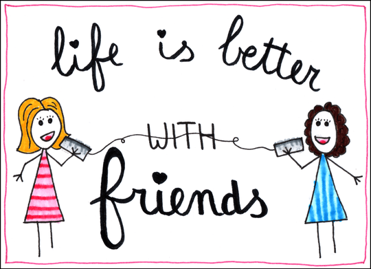 Kaart - Life is better with friends