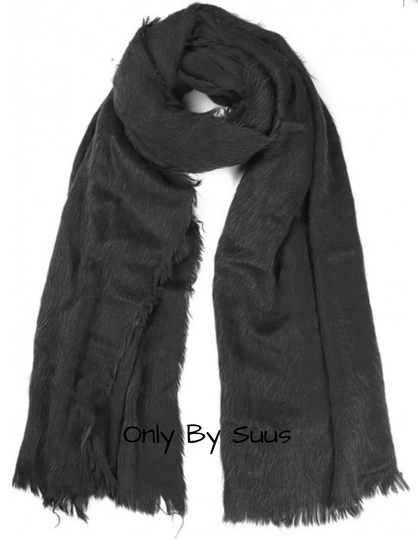 Fluffy Sjaal 'Black'