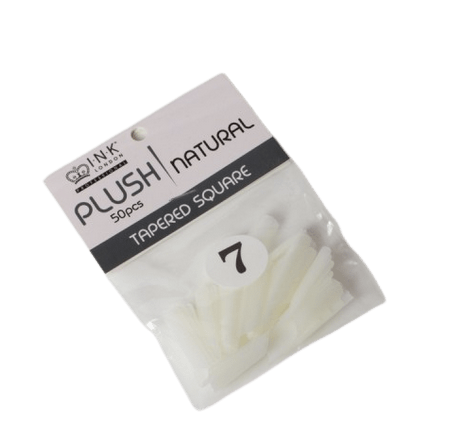Plush Tips Refill Tapered Square Natural 7