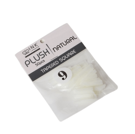Plush Tips Refill Tapered Square Natural 9