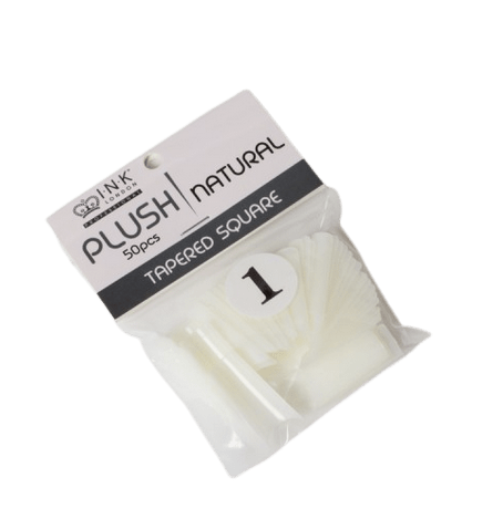 Plush Tips Refill Tapered Square Natural 1