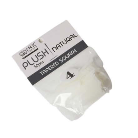 Plush Tips Refill Tapered Square Natural 4