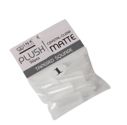 Plush Tips Refill Tapered Square Crystal Clear Matte 1