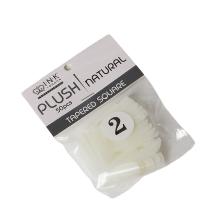 Plush Tips Refill Tapered Square Natural 2