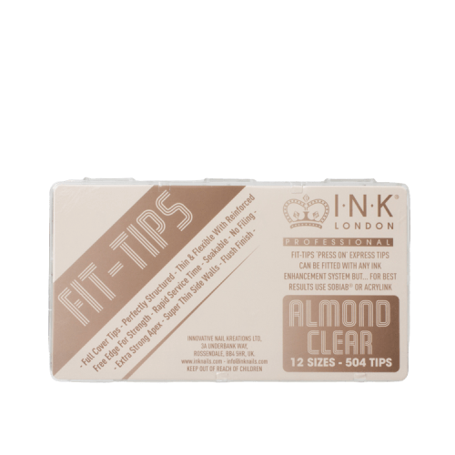 Fit Tips Almond Clear Box