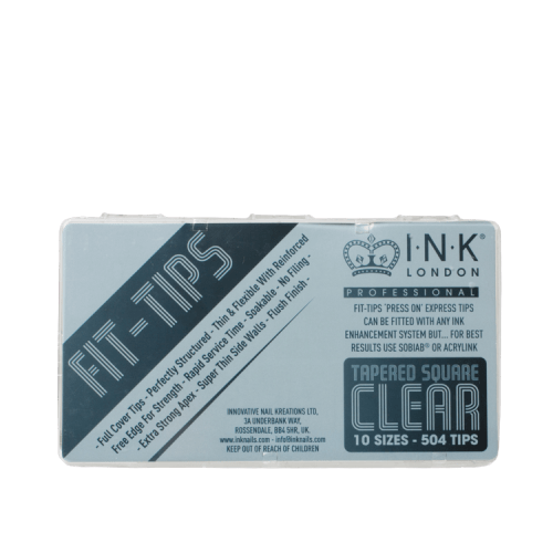 Fit Tips Tapered Square Clear Box