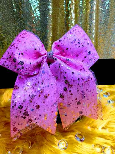 Purple Speckled Buzzing Bow