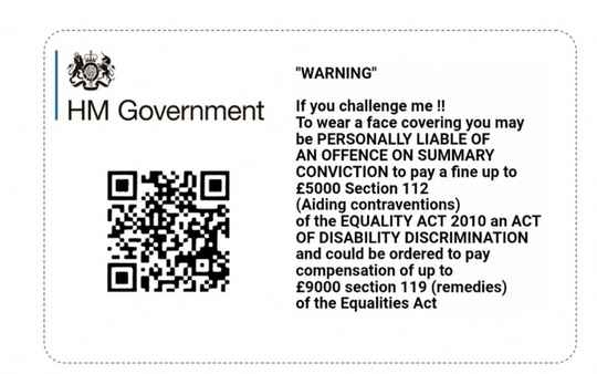 HM Government Notice Card