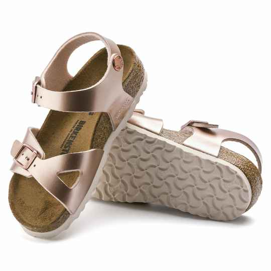 Birkenstock Rio Ellectric Metallic Copper