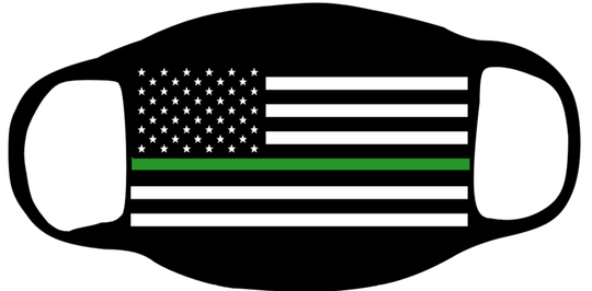 Flag with the Thin Green line for the Military
