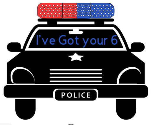 Ive got your 6 police car car decal