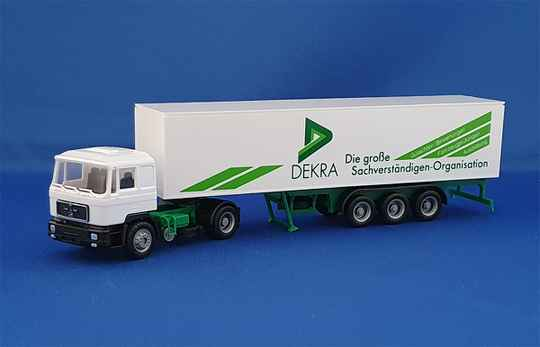 "Herpa Exclusive Serie - MAN "" DEKRA "" Koffersattelzug (1417)"