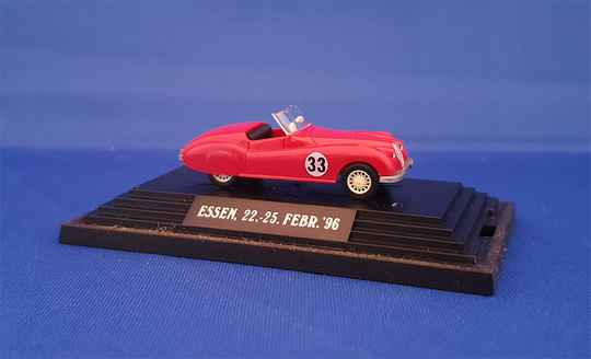 "Wiking 80102 - Jaguar XK 120 - rot Nr.33 ""Techno Classica Essen ´96"" (1629)"