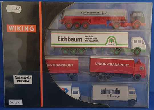 Wiking - reclame set trucks 1983/84-2 (0454)