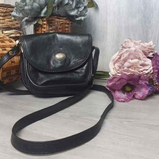HBG -  Small Black bag with button