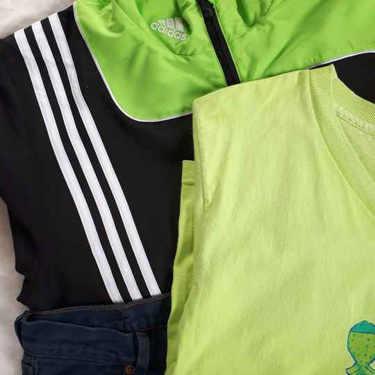 Vintage Sport Top | Green Stripes