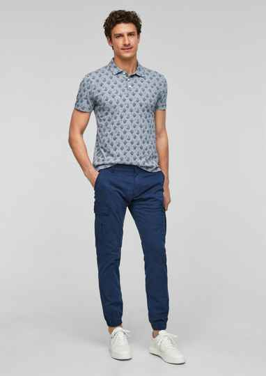 Polo met print all-over