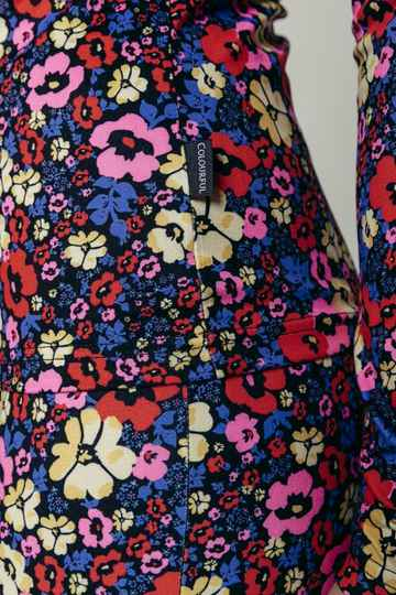 Neyo Flower Peached Top   Multicolor