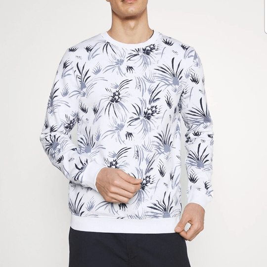 Crewneck with allover print
