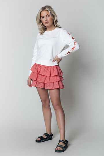 ALOHA VACAY PATCH SLEEVES BASIC SWEATER OFFWHITE