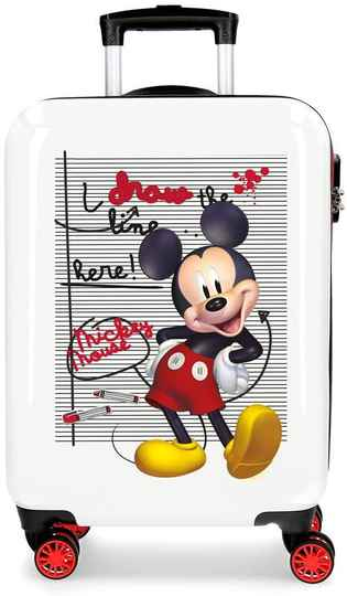 Disney koffer Mickey Mouse junior 70 liter ABS rood/wit