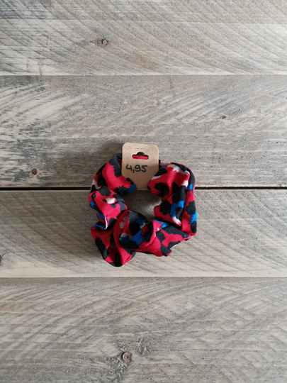 Scrunchie - Panterprint Rood