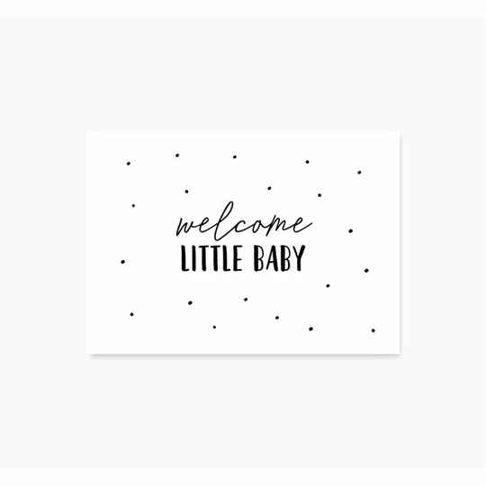 A6 Ansichtkaart - Welcome little baby