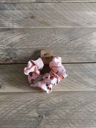 Scrunchie - Flamingo Roze