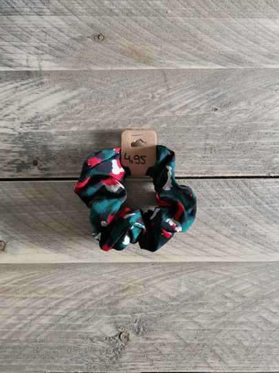 Scrunchie - Panterprint Groen