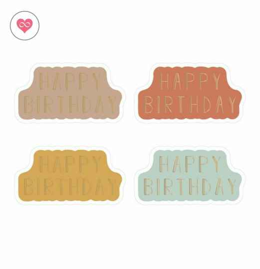 Stickers | Happy Birthday | Set van 8 | House of products | HOP