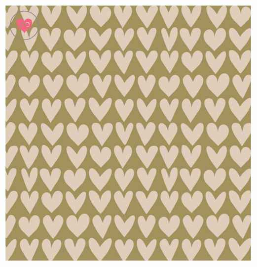 Cadeaupapier | Olive Green | House of Products | Dubbelzijdig