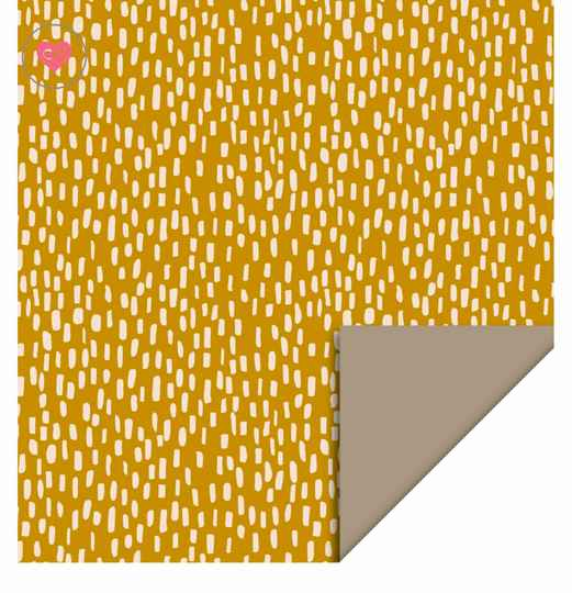Cadeaupapier | Inpakpapier | Sparkles Yellow Taupe | Dubbelzijdig | House of Products