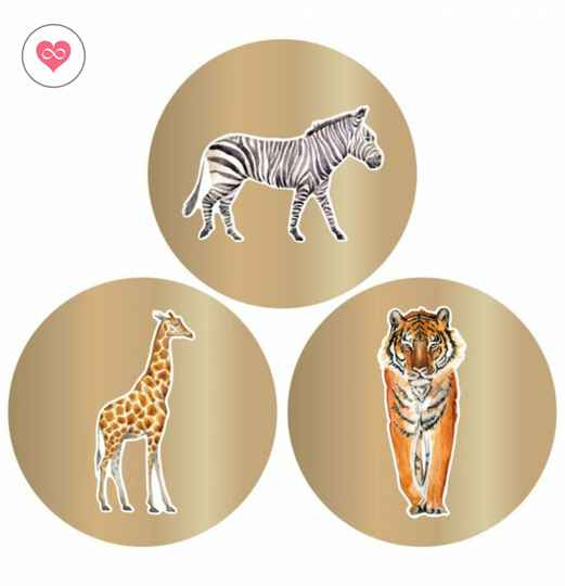Stickers |Jungle | Goud | Set van 12 | House of Products